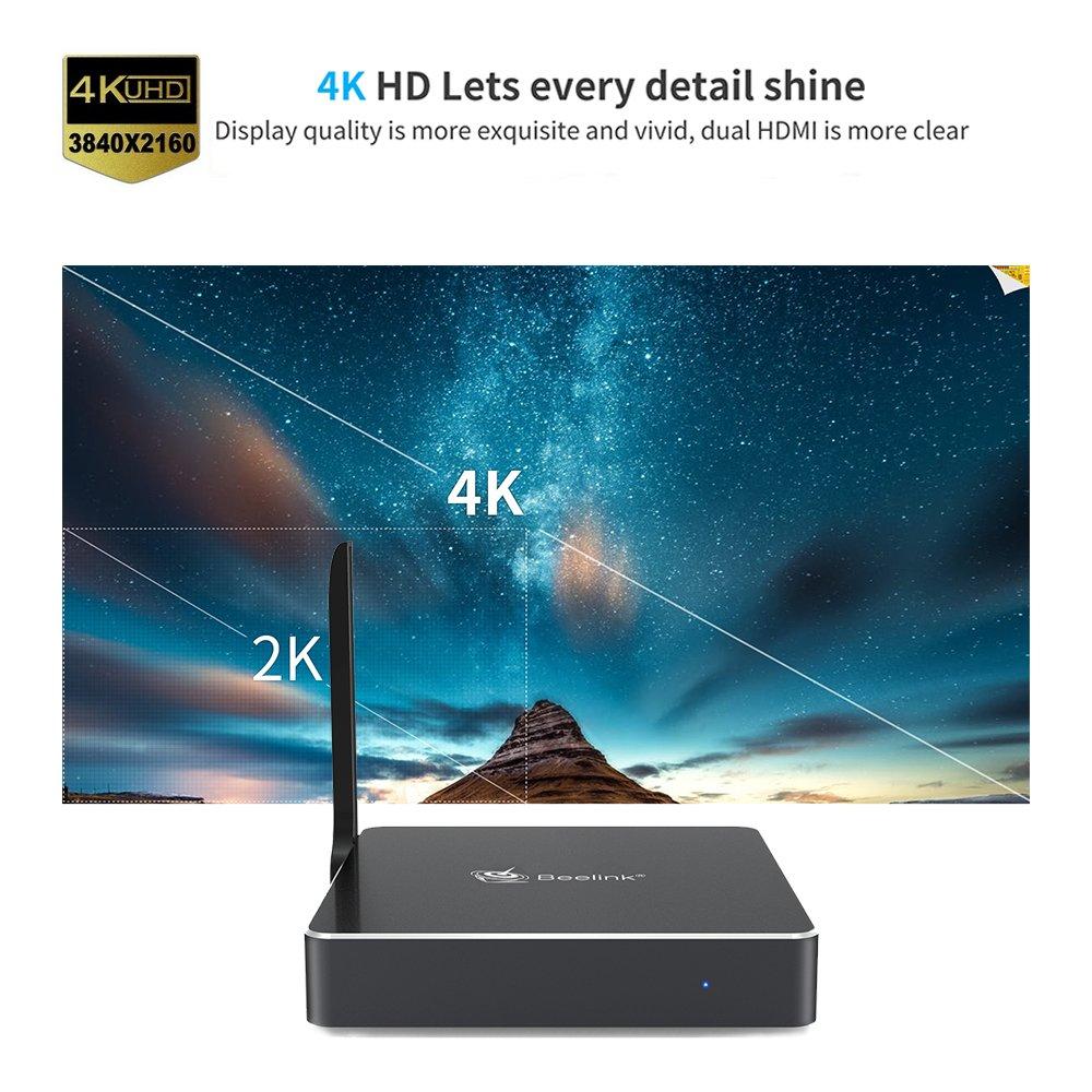 Beelink AP34 Pro Mini PC DDR3 6GB/eMMC 64GB Apollo Lake N3450 64-bit1000Mbps LAN 2.4/5.8G Dual Band WiFi with Dual HDMI Ports: Amazon.es: Informática
