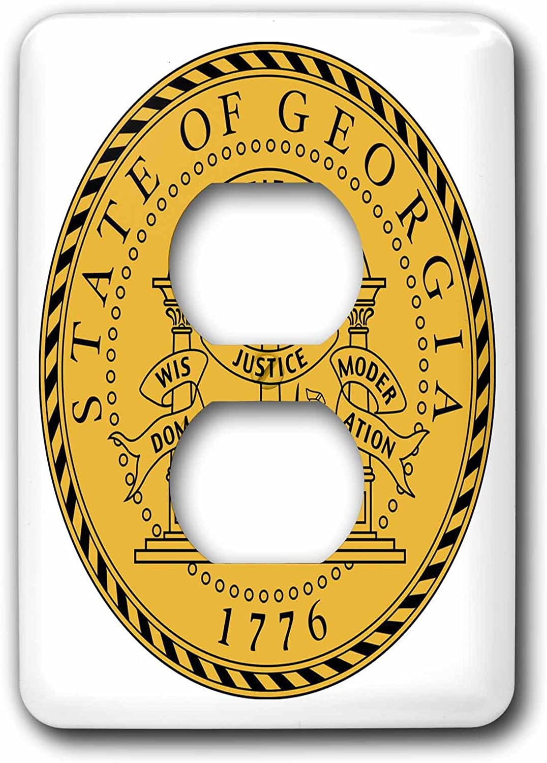 3drose Lsp 55406 6 State Seal Of Georgia Pd Us 2 Plug Outlet Cover Outlet Plates Amazon Com