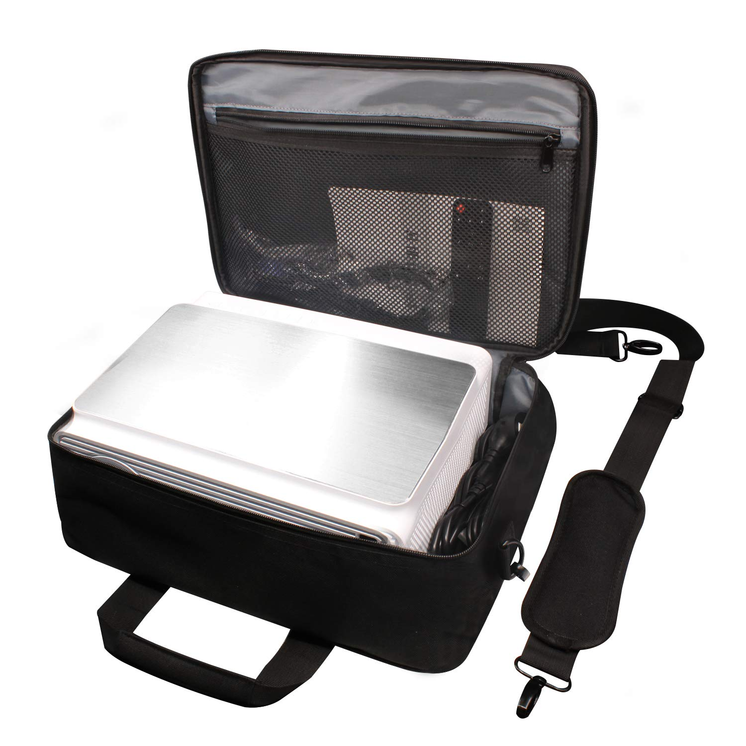 ERISAN Projector Case, Large Size, 16x11 inches,Projector Carrying Bag with Waterproof Hard Shell Frame, for Epson, Acer, BenQ, LG etc by ERISAN