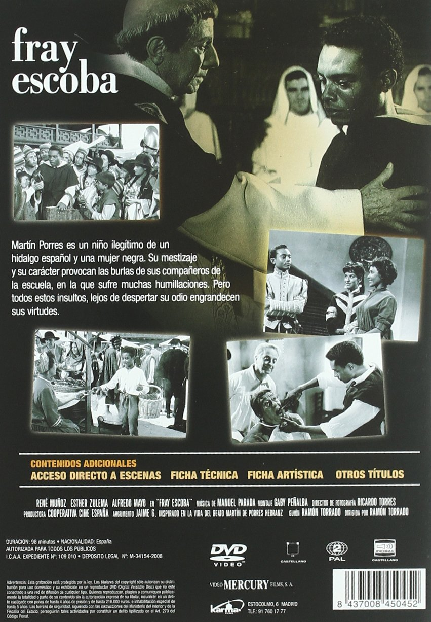 Fray escoba (Edición remasterizada) [DVD]: Amazon.es: Rene Muñoz, Esther Zulema, Ramón Torrado, Rene Muñoz, Esther Zulema: Cine y Series TV