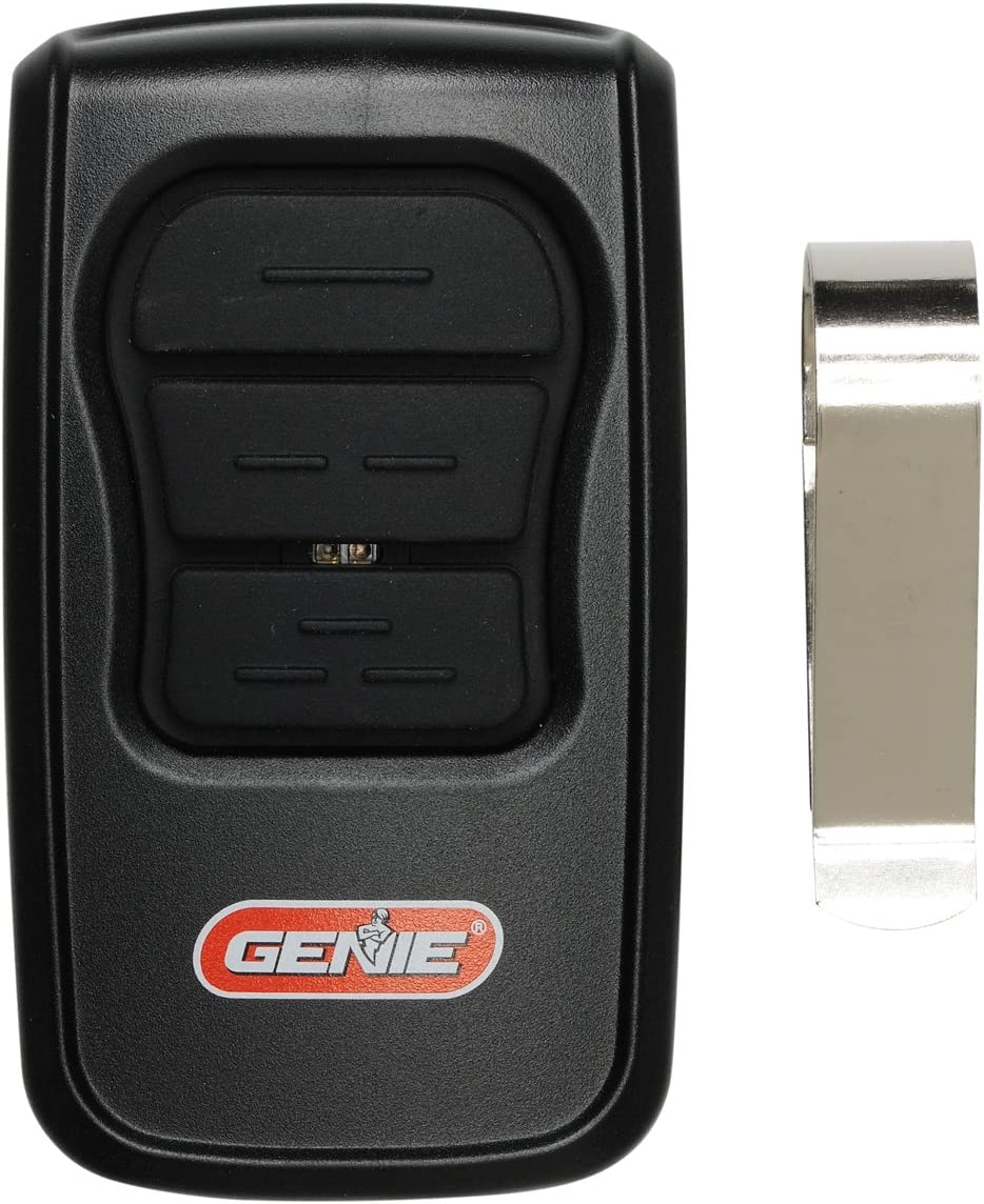 GenieMaster 3-Button Garage Door Opener Remote - Compatible with Genie Garage Door Openers Made Since 1993 with Intellicode Technology and/or9/12 Dipswitches - Model GM3T-R