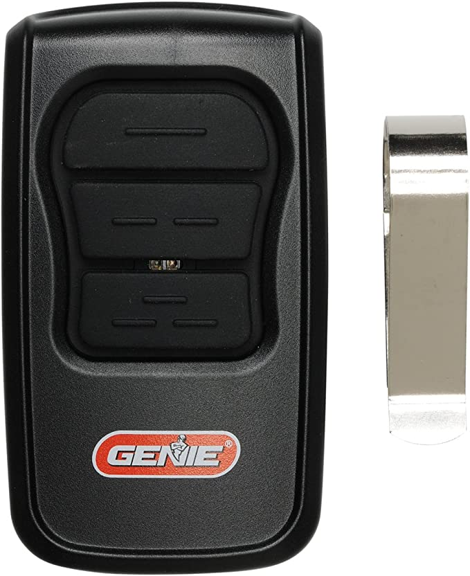 GenieMaster 3-Button Garage Door Opener Remote Compatible with Genie Garage Door Openers Made Since 1993 with Intellicode Technology and//or 9//12 Dipswitches Model GM3T-R 1