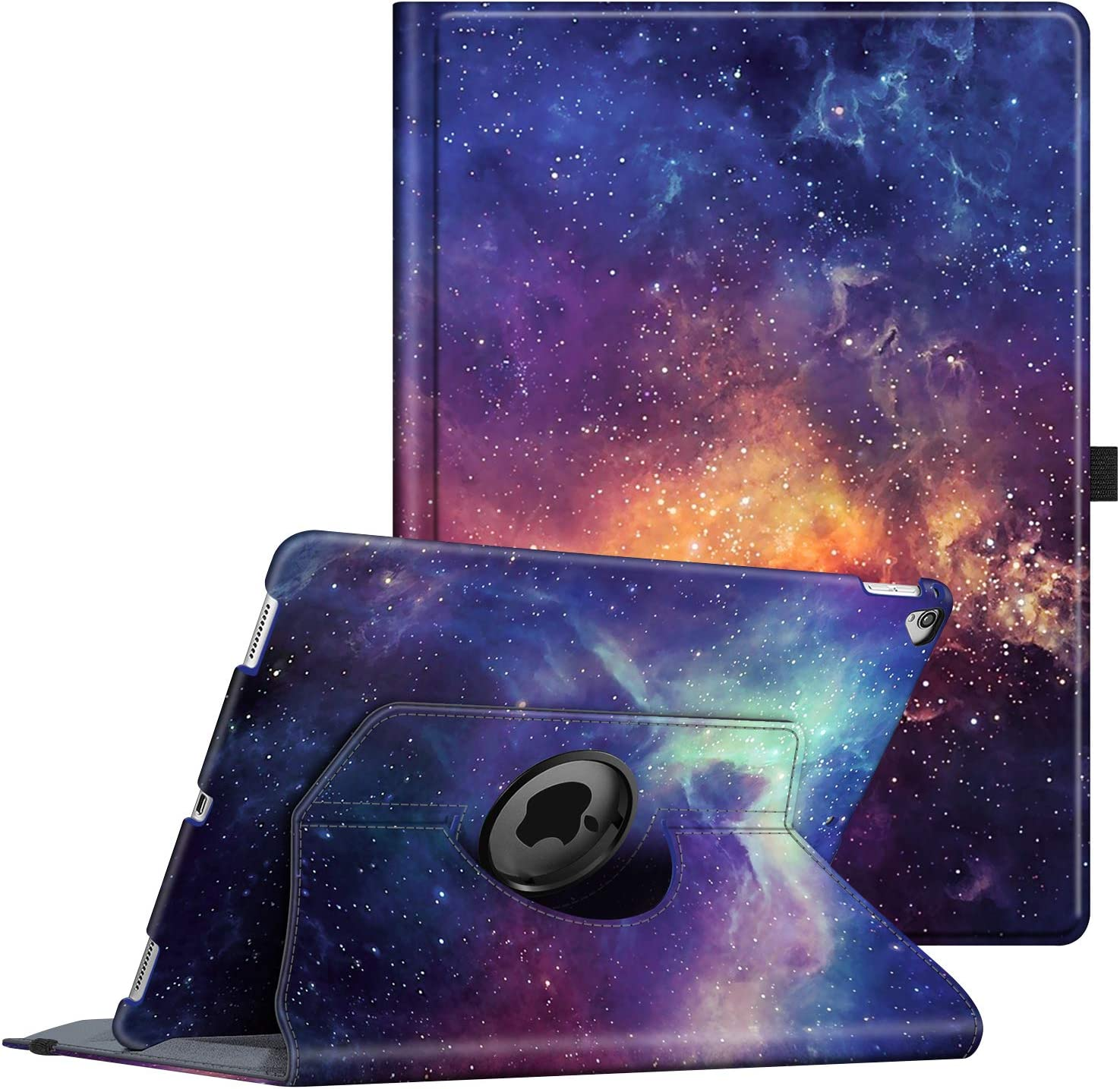 Fintie Rotating Case for iPad Pro 12.9 (2nd Gen) 2017 / iPad Pro 12.9 (1st Gen) 2015-360 Degree Rotating Stand Case with Smart Protective Cover Auto Sleep/Wake, Galaxy