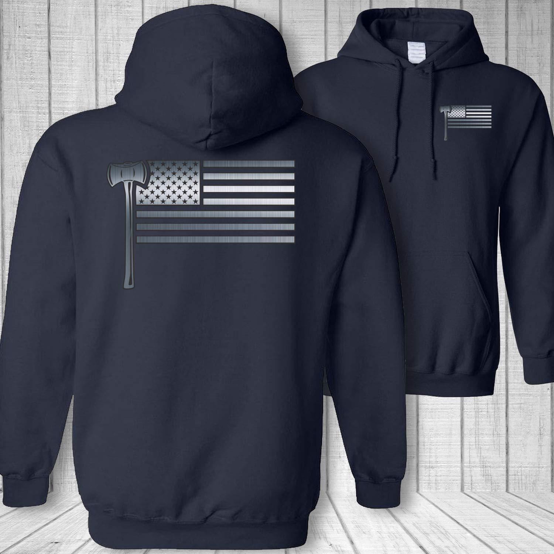 Logging American Flag Logger Ax Sweatshirt Hoodie M