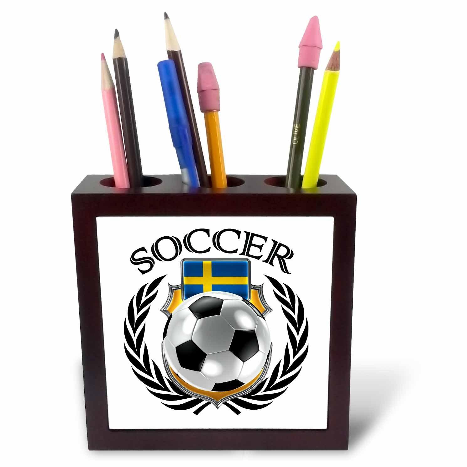 3dRose ph_239709_1 - Soporte para bolígrafo de balón de fútbol con ...