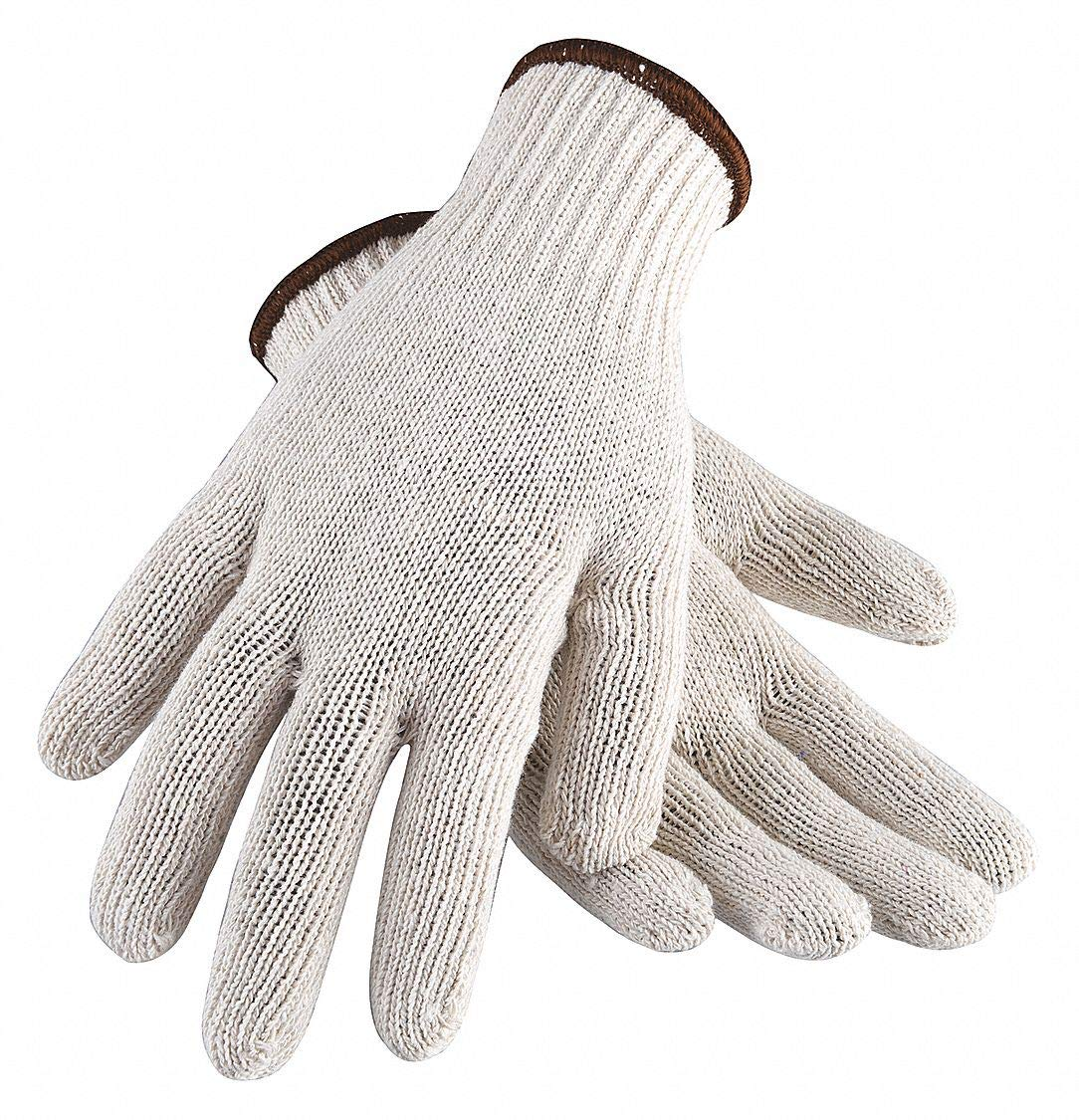 CONDOR Natural String Knit Gloves White Large Standard Weight Cotton//Polyester