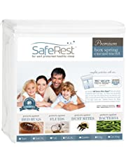 """SafeRest Waterproof Lab Certified Bed Bug Proof Zippered Box Spring Encasement - Designed For Complete Bed Bug, Dust Mite and Fluid Protection 9"""""""