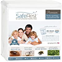 SafeRest Premium Box Spring Encasement - Lab Tested Bed Bug Proof, Dust Mite Proof and Waterproof - Breathable, Noiseless and Vinyl Free (Fits 6-9 in. H)