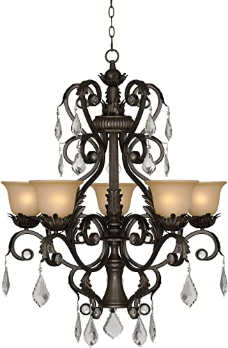 Kathy Ireland Ramas de Luces Bronze 31″ Wide Chandelier