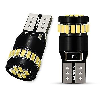 AUXITO 2x T10 W5W LED Coche Luz Bombilla,12V 6000K CANBUS Iluminación interior, 194