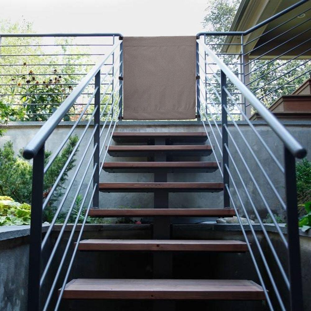 LeKing Animali Cani Cancello Guardia di sicurezza, Scala Protettiva Recinzione Cortile Deck Recinzione Protezione mobili Barriera Baby 110x91cm