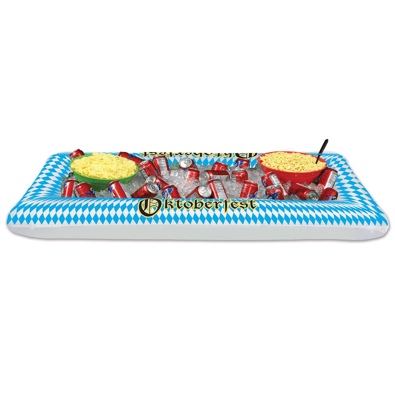 Beistle Inflatable Oktoberfest Buffet Cooler, 28-Inch Width x 4' 5¾-Inch Length 54682