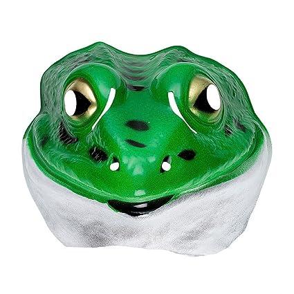 Máscara infantil de sapo antifaz niños rana de plástico animales accesorios traje de halloween