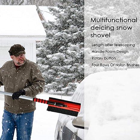 Limpiaparabrisas retráctil multifuncional para limpieza de camiones y descongelación, cepillo extensible 3 en 1,