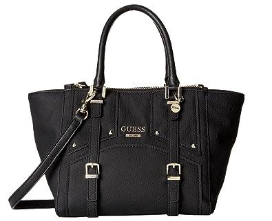 6668deab51 GUESS Women s Riki Satchel Bag Handbag (Black)  Handbags  Amazon.com