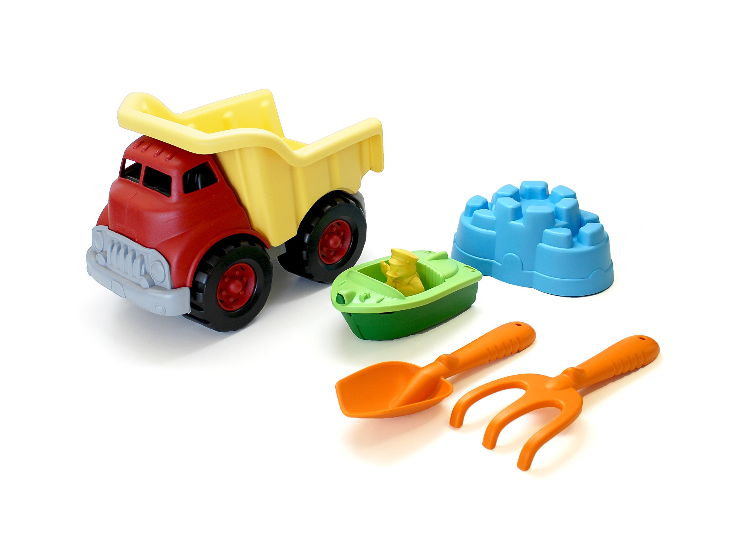 Green Toys Sand & Water Play Dump Truck With Boat & Sand Tools 2