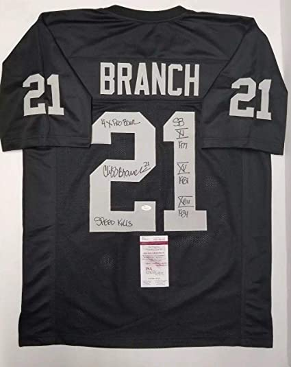 Image Unavailable. Image not available for. Color  Cliff Branch Autographed  Jersey - Custom Black XL WITNESS - JSA Certified - Autographed NFL Jerseys 8b6810ea1