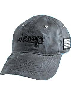 Jeep Unisex Adjustable Horizon Classic Cap (Black 6806a0a2e92c