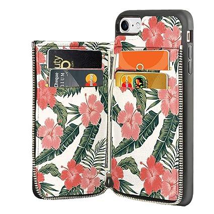 Amazon.com: LAMEEKU - Funda tipo cartera para iPhone 7 de ...