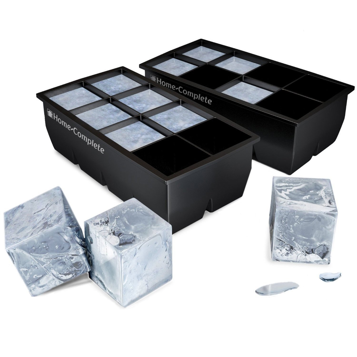 galleon best ice cube trays 2 large silicone pack 16 giant 2 inch ice cubes molds. Black Bedroom Furniture Sets. Home Design Ideas
