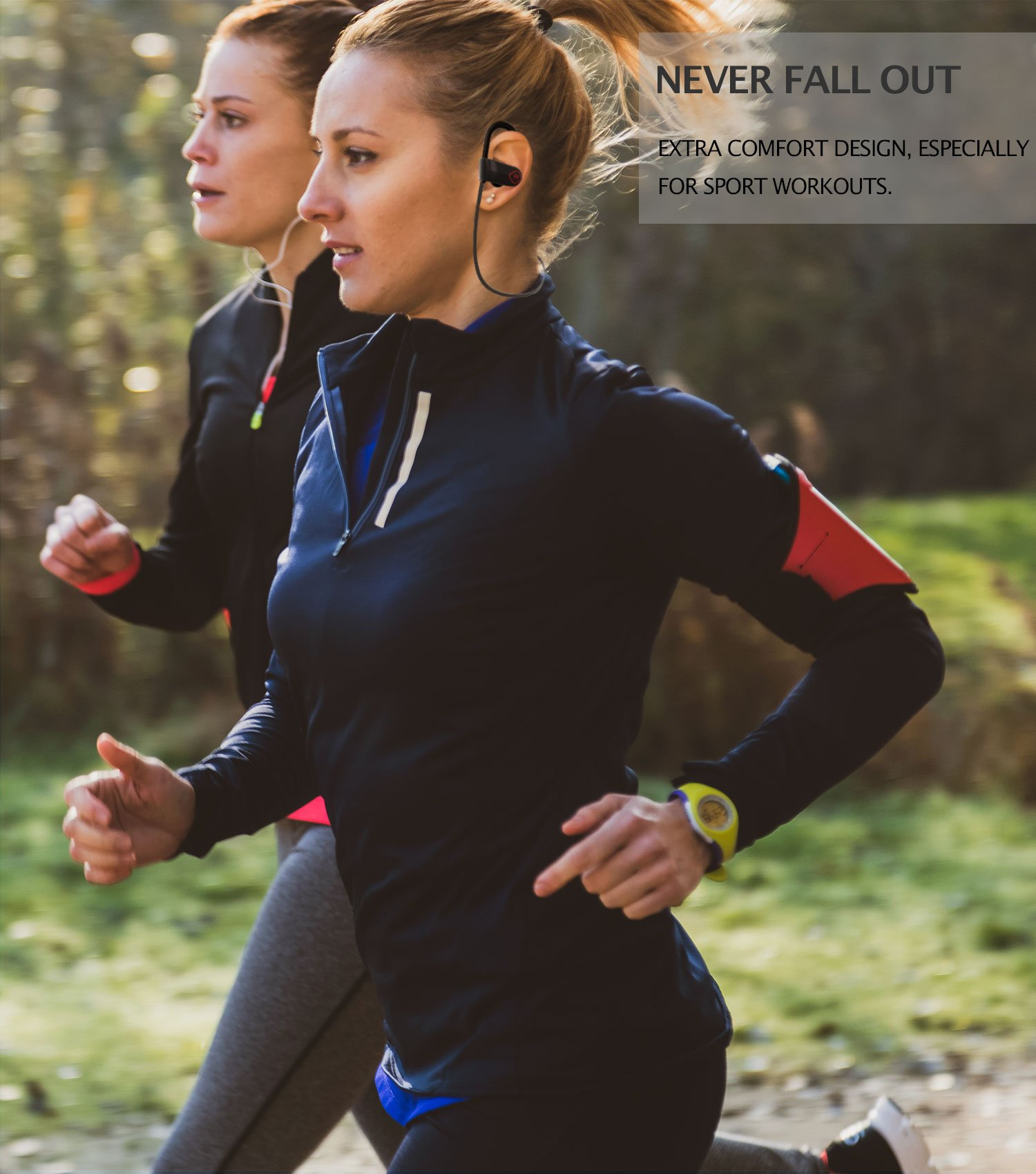 ONE DAY SALE!! - MX10 Bluetooth Iphone Headphones - Ear Buds Wireless Headphones - Designed For Running and Sport Workouts - Built-in Microphone With Noise Cancellation - IPX7 WaterProof by MultiTed (Image #2)