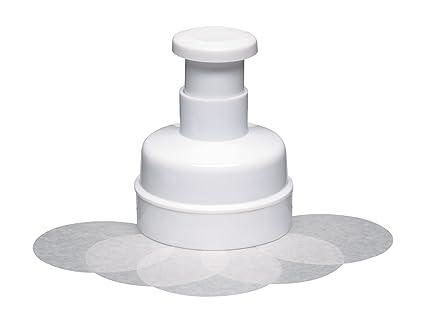 Kitchen Craft - Utensilio para hacer hamburguesas con 100 discos de papel encerado