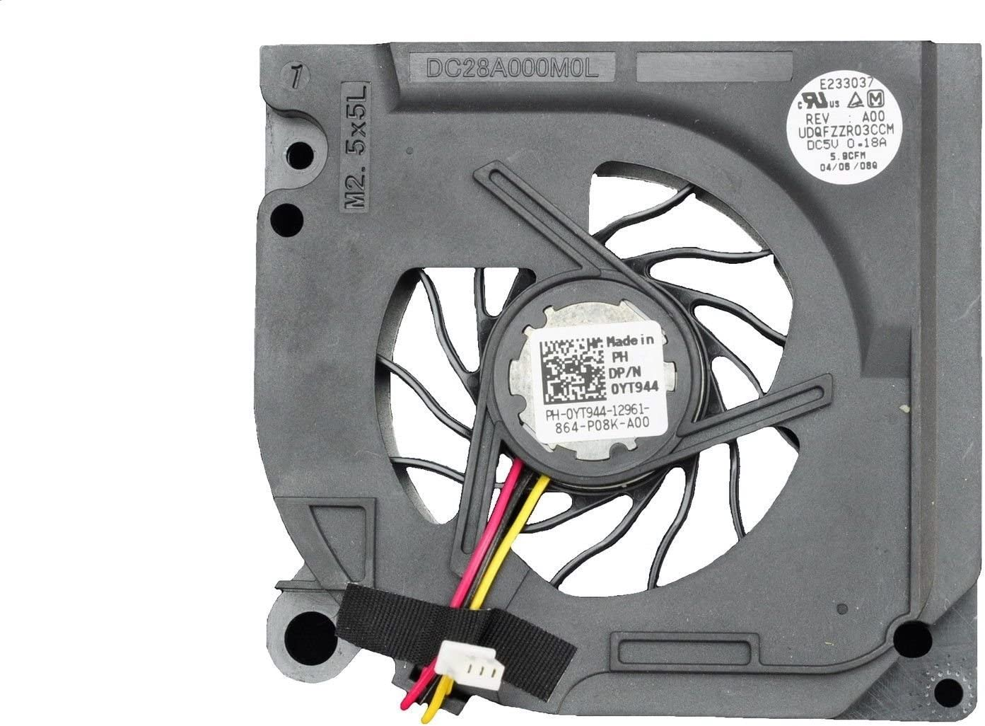 Dell Latitude D620 D630 DC28A000J0L CPU Cooling Fan YT944