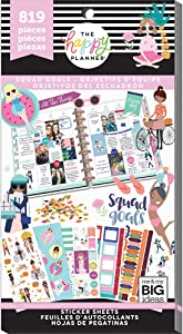 me & my BIG ideas Sticker Value Pack for Classic Planner - The Happy Planner Scrapbooking Supplies - Squad Goals Theme - Multi-Color & Gold Foil - For Projects & Albums - 30 Sheets, 819 Stickers