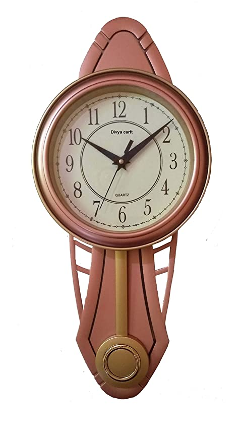Buy Divya Craft VK Collection Plastic and Glass Wall Clocks with