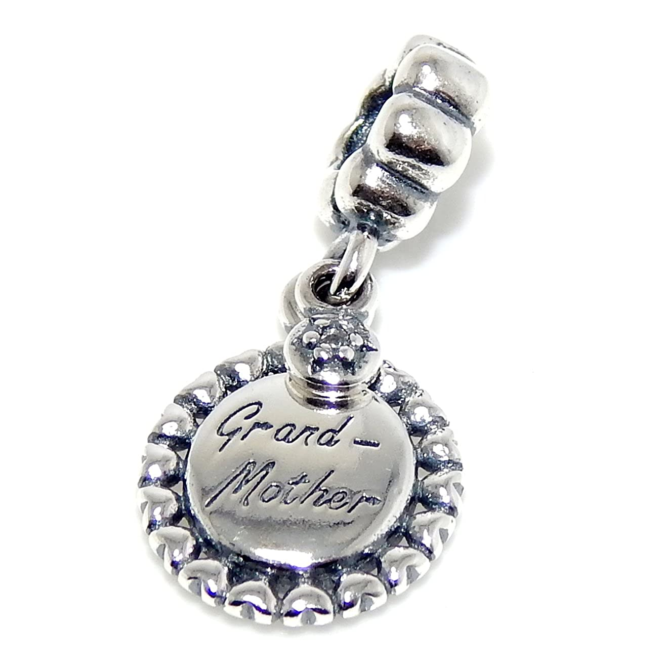 ICYROSE Solid 925 Sterling Silver Dangling Grandmother Pendant Charm Bead 355 for European Snake Chain Bracelets