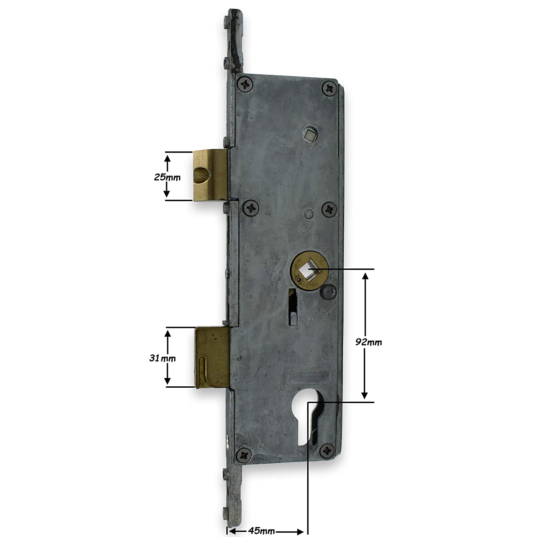 Fullex SL16 Door Lock 55mm Backset Gear Box Lock Case 68pz