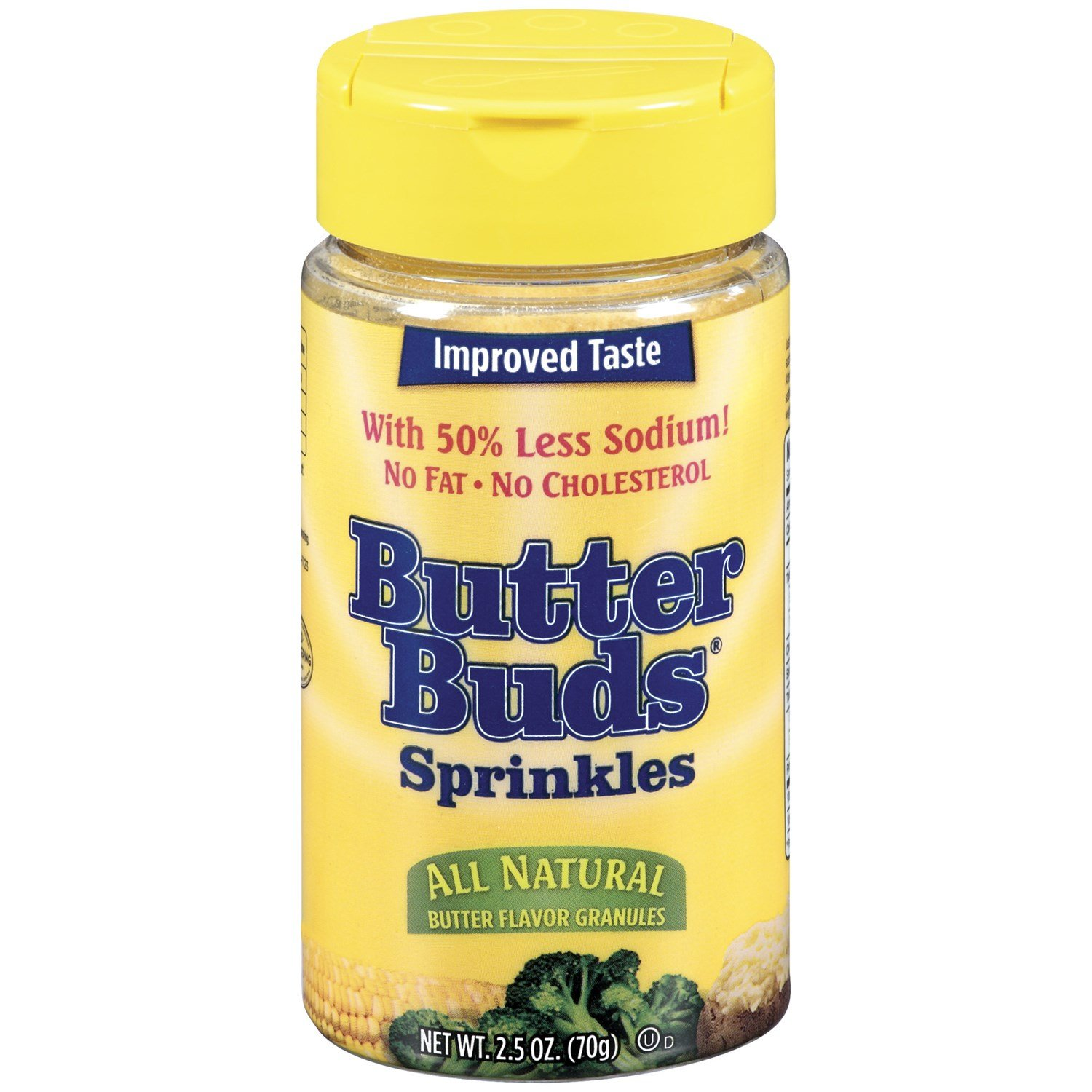 Butter Buds, Sprinkles, Butter Flavored Granules, 2.5 Ounce (Pack of 3) by Butterbuds