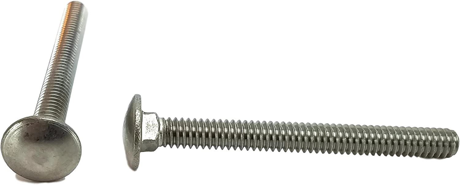 Carriage Bolt 18-8 Stainless Steel 3//8-16 x 3-1//2 Qty-25