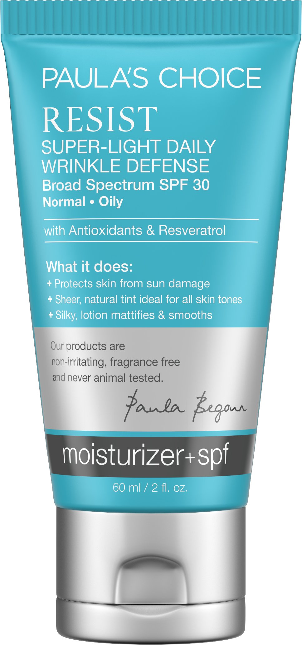 Paula's Choice--RESIST Super-Light Daily Wrinkle Defense SPF 30 Tinted Matte Moisturizer with Antioxidants and Resveratrol--For the Face--1-2 oz Tube