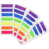 Outus 560 Pieces Page Markers Arrow Flags Tabs Fluorescent Sticky Notes Writable Tabs for Page Marker, 4 Set, 7 Color