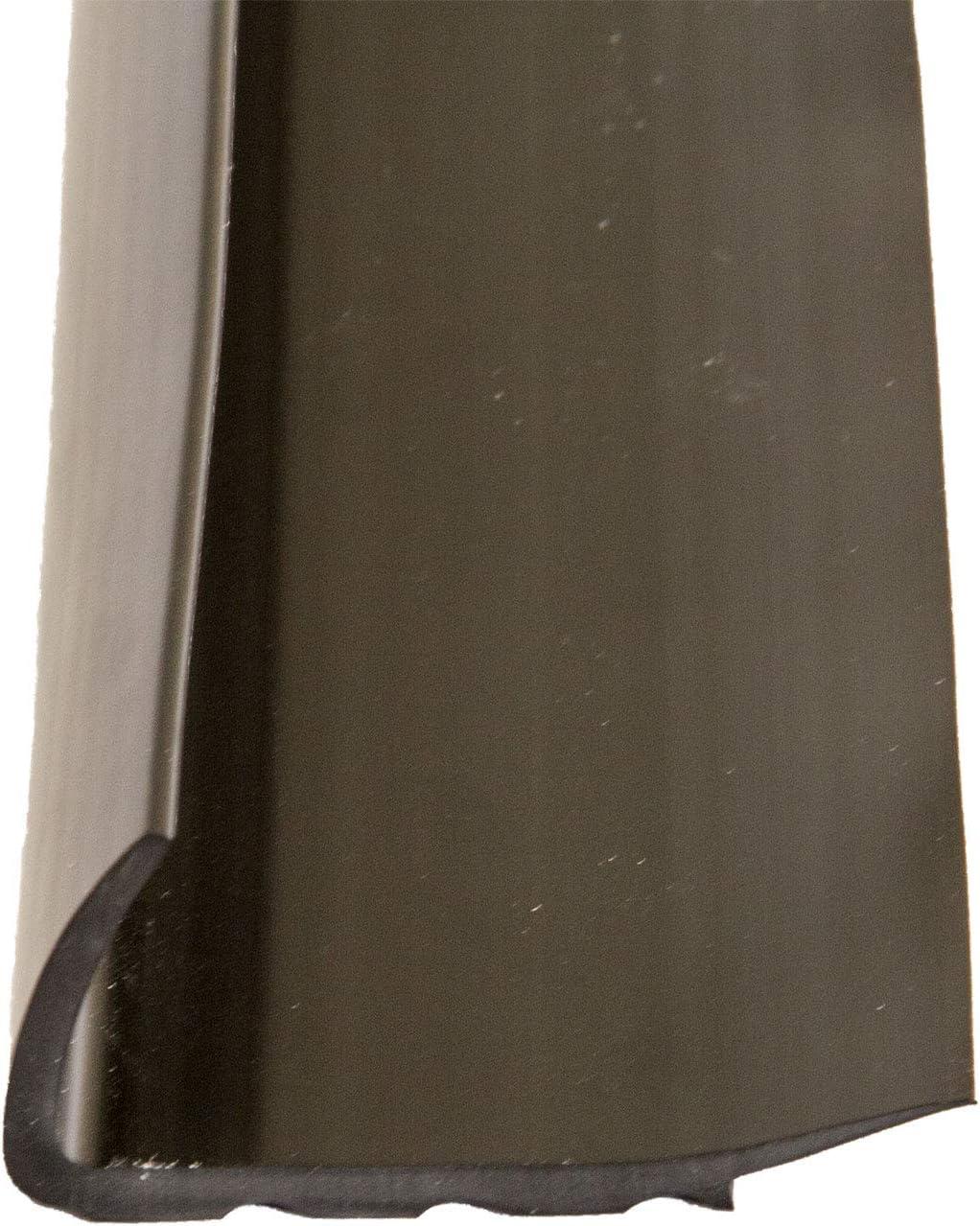 Treppenkantenprofil aus Kunststoff rutschhemmendes Treppenprofil Winkelprofil f/ür Treppenstufe schwarz L/änge 110 cm 1