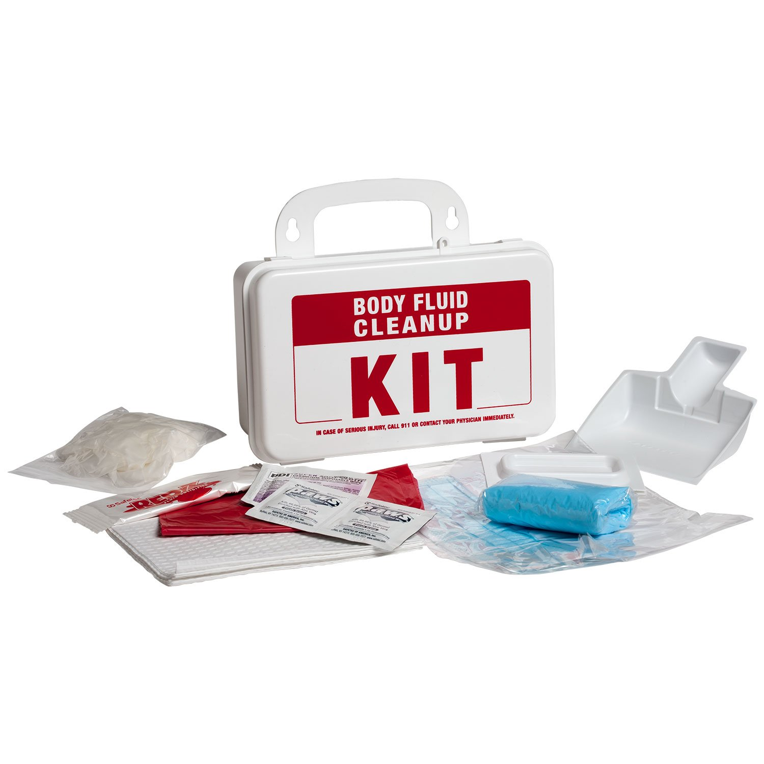 ProStat First Aid 2222 14 Piece Body Fluid Clean Up Kit with Plastic Box ((2.Units))