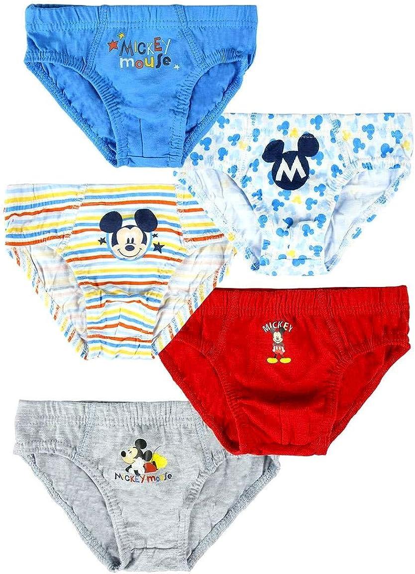 Disney Biancheria Intima per Bimbo Confezione da 5