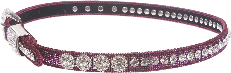Western Cowgirl Rhinestone Studded Skinny Belt 20 mm Kids 3//4