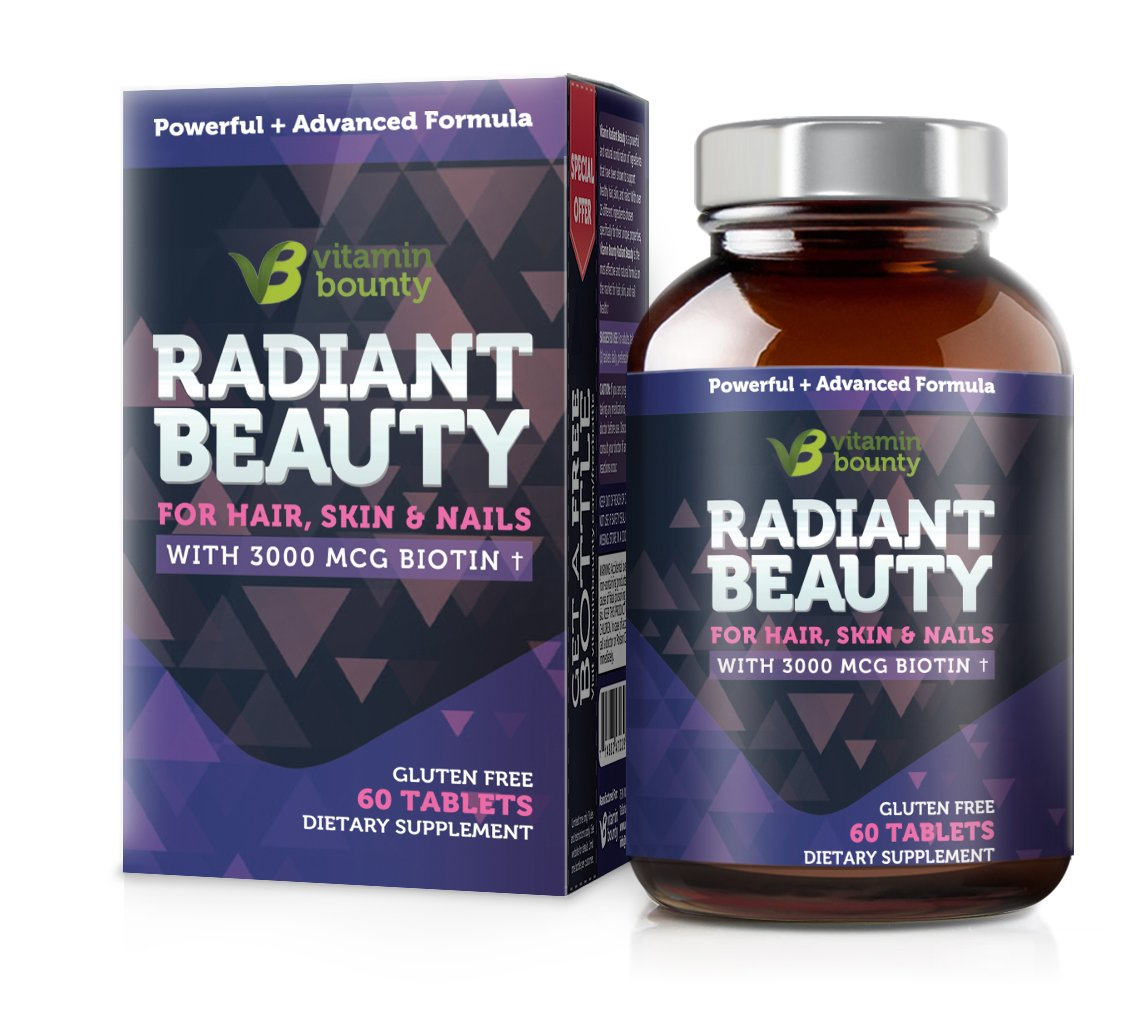 Radiant Beauty - Hair Regrowth, Healthy Skin and Stronger Nails - Vitamin Bounty