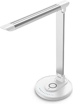 TaoTronics LED Desk Lamp with 10W Qi Charging Pad