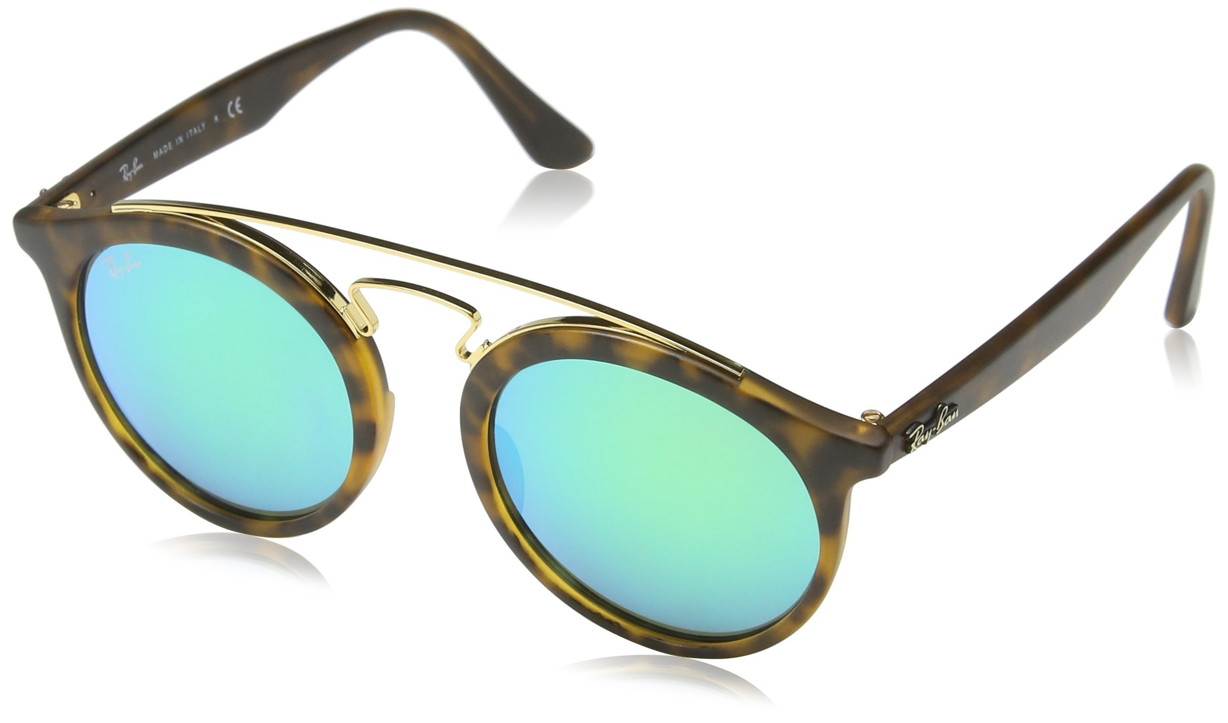 Ray-Ban Gatsby I Sunglasses (RB4256) Tortoise/Green Plastic - Non-Polarized - 49mm by Ray-Ban