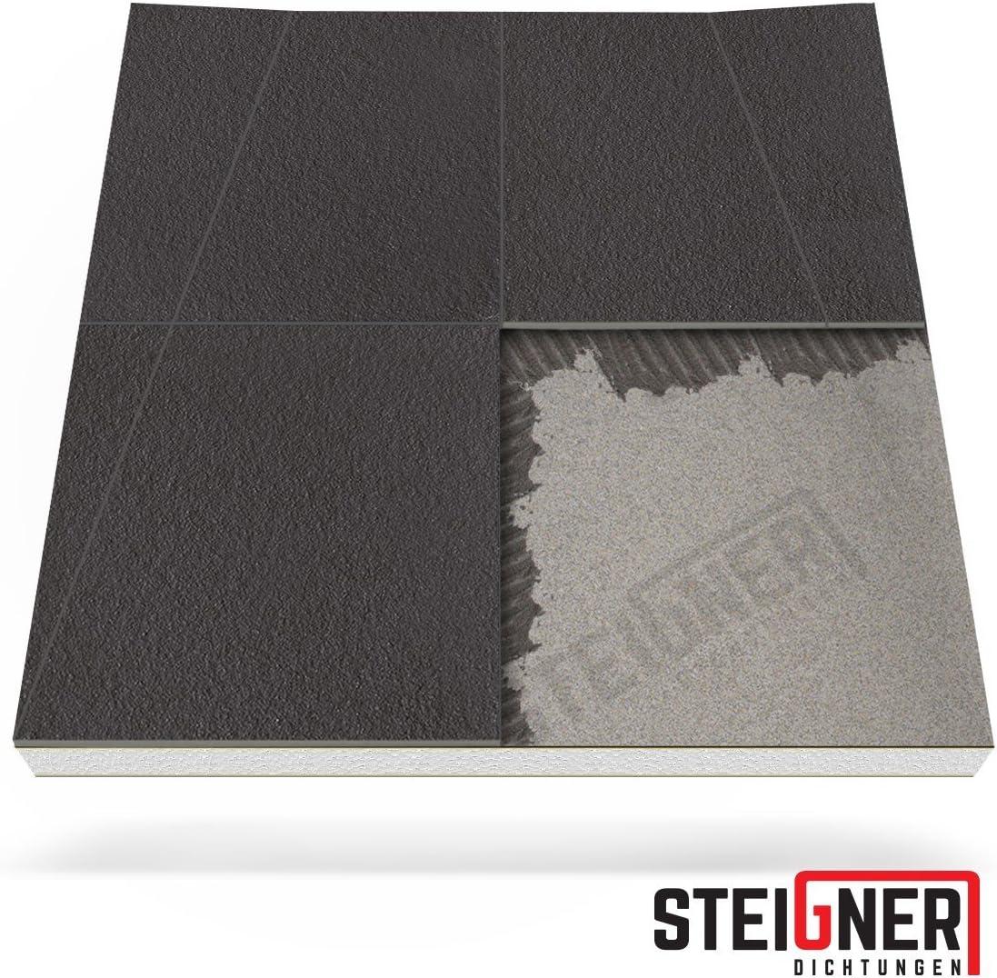 STEIGNER Receveur de Douche Mineral Basic Drain Mural 30 cm C/ôt/é plus Court 80x130 cm