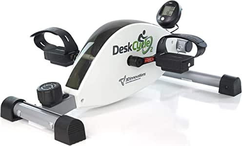 DeskCycle 2 Under Desk Cycle, Adjustable Legs Pedal Exerciser - Stationary Mini Exercise Bike Peddler - Office, Home Equipment