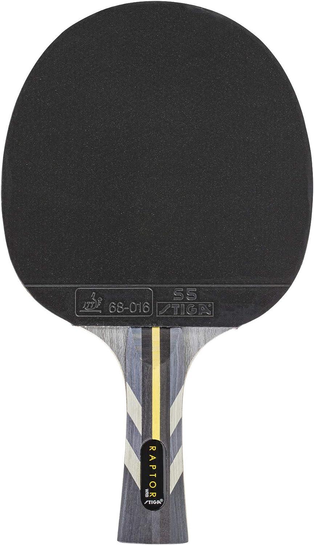 ONE Stiga RAPTOR Table Tennis Bat Ping Pong Racquet Black//Red