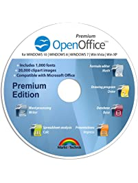 Office Suite Special Edition for Windows 10-8-7-Vista-XP | PC Software and 1.000 New Fonts | Alternative to Microsoft...