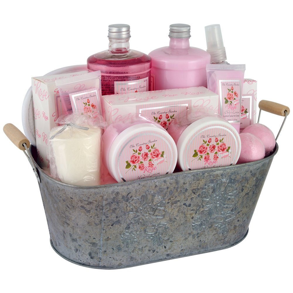 Gloss! Coffret de Bain Premium - The Country Garden - Rose - 12 Pcs, Coffret Cadeau-Coffret de bain EM1302 Coffret Noel