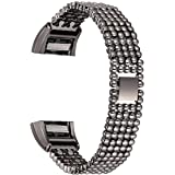 For Fitbit Charge 2 Bands, bayite Replacement Metal Adjustable Bracelet Bands for Fitbit Charge 2, Style E
