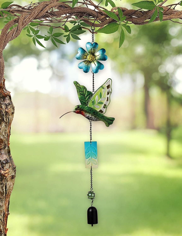 Sunset Vista Designs Metal and Colored Glass Hummingbird Garland