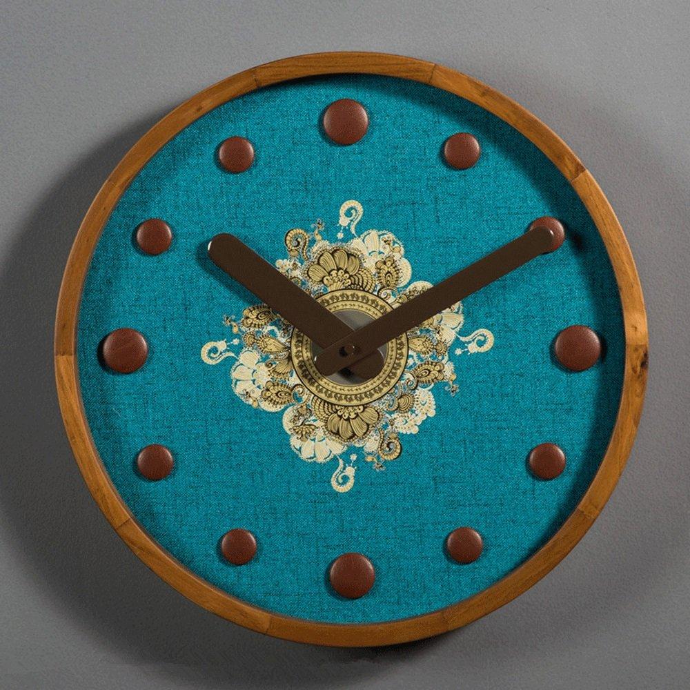 スカンジナビアのレトロスタイルの木製の壁時計、ファッションアートの時計とリビングルームのミュート壁図 (サイズ さいず : 16 inches) B07D5Y4FDJ16 inches